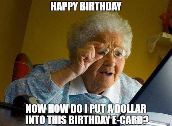 funny birthday ecard memes
