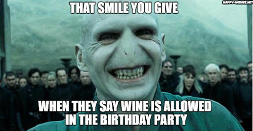 funny birthday party wine memes