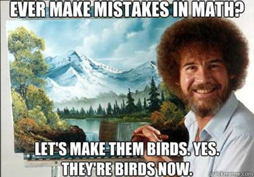 funny bob ross math memes