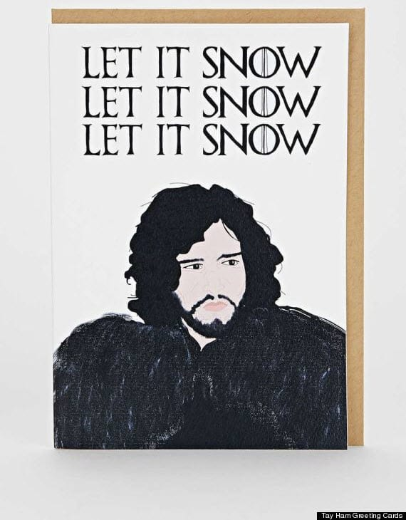 20 most funny christmas cards sayingimages funny christmas card jon snow m4hsunfo