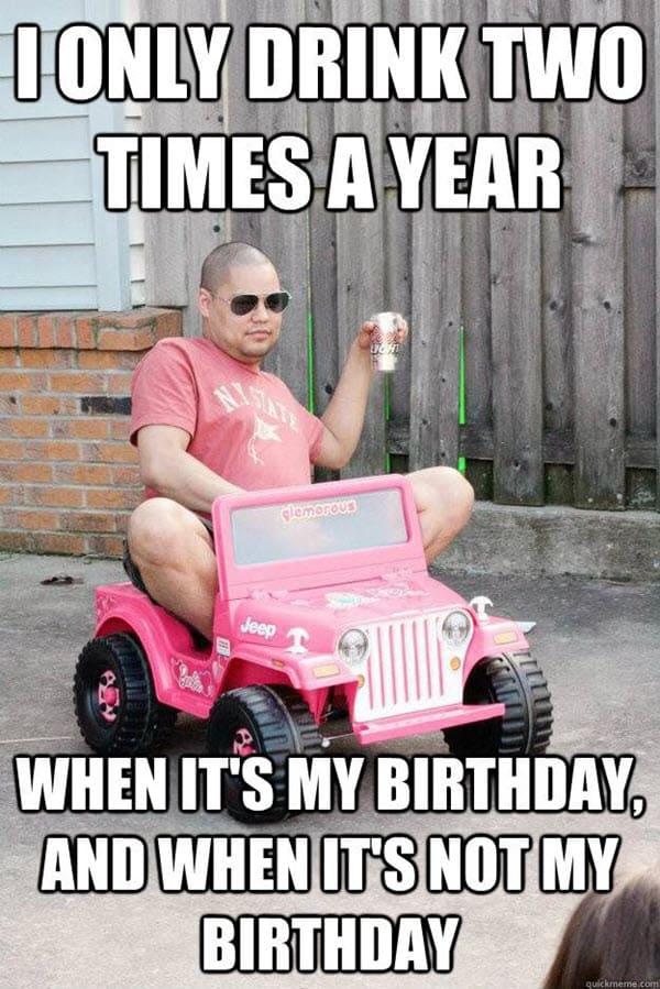 funny drunk birthday memes