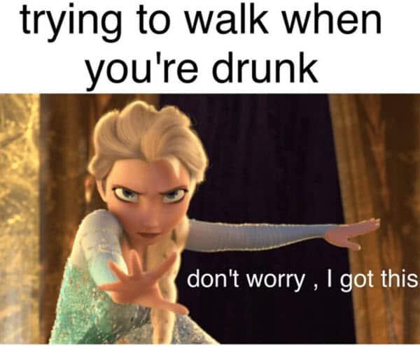 funny drunk walk memes
