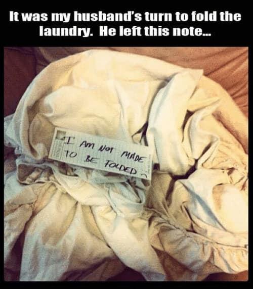 funny husband fold the laundry memes
