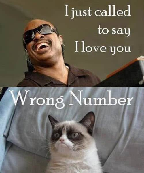 funny i love you wrong number meme