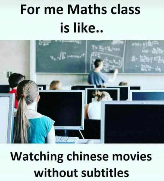 funny math class memes