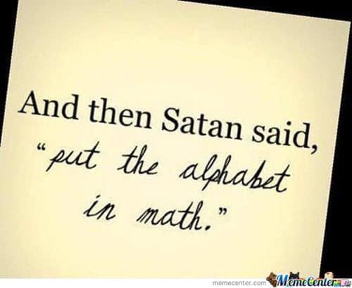 funny math satan memes