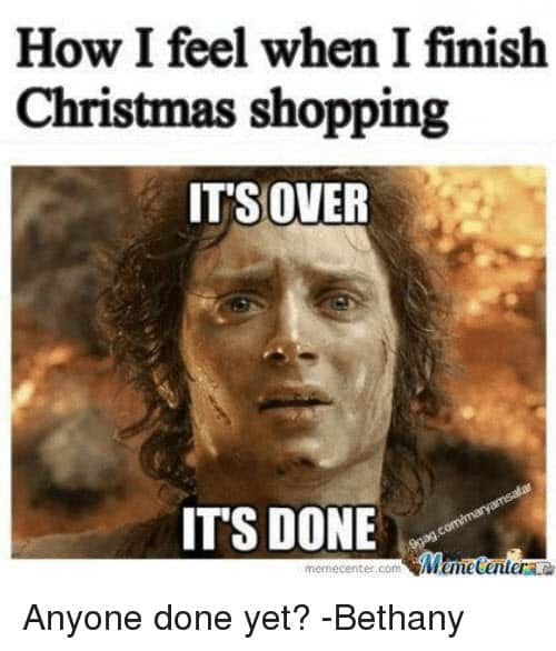 funny merry christmas shopping memes