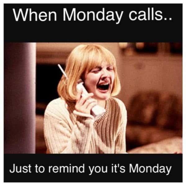 funny monday calls meme