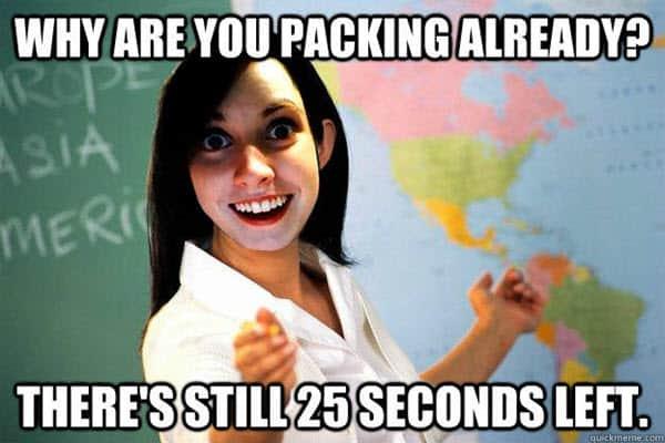 funny school 25 seconds left memes