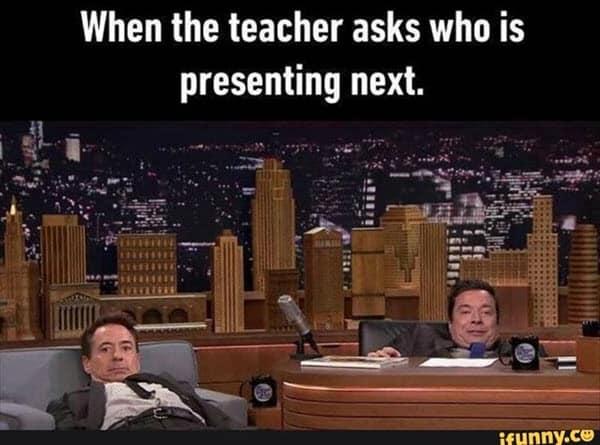 funny school presenting next memes