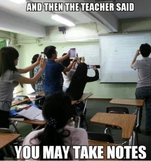 funny school take notes memes