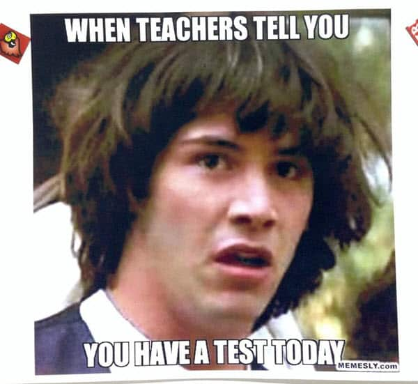 funny school test today memes