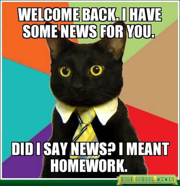funny school welcome back memes