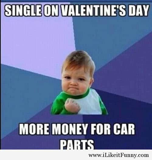 funny single on valentines day meme