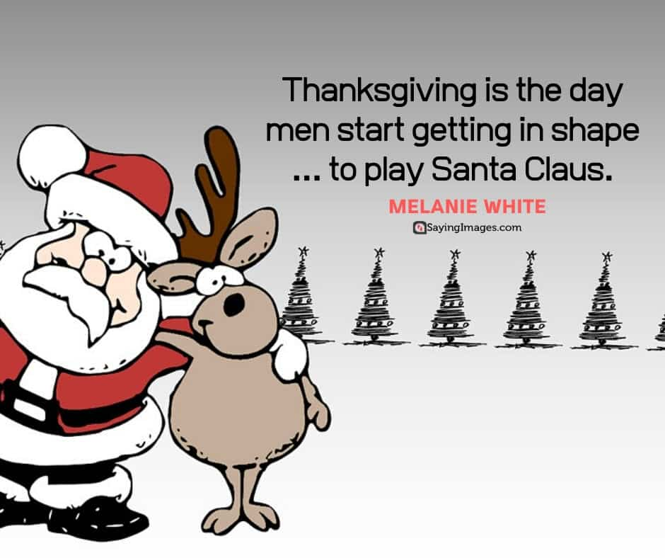 funny thanksgiving santa quotes