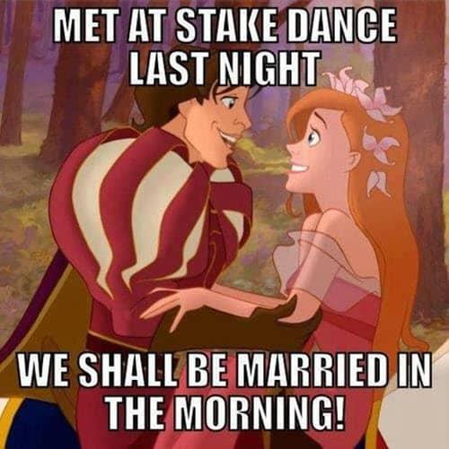 funny valentines met at stake dance meme