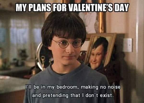 funny valentines plans meme