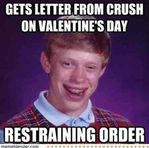funny valentines restraining order meme
