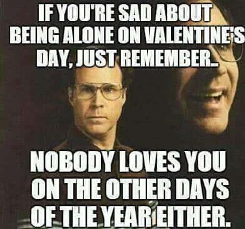 funny valentines sad meme