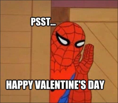 funny valentines spiderman meme