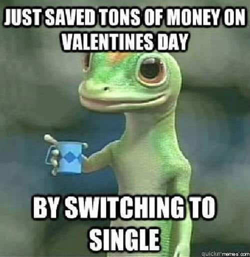 funny valentines switching to single meme