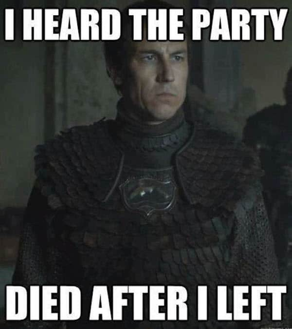game of thrones birthday party meme