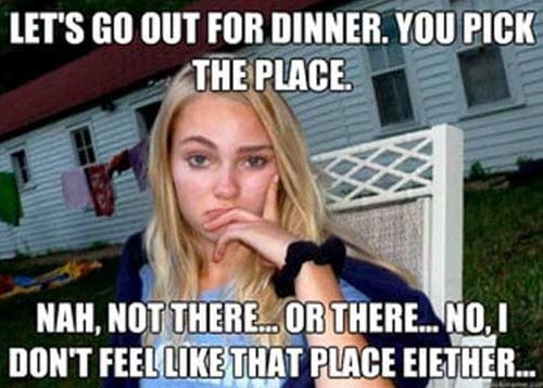 girlfriend go out for dinner meme