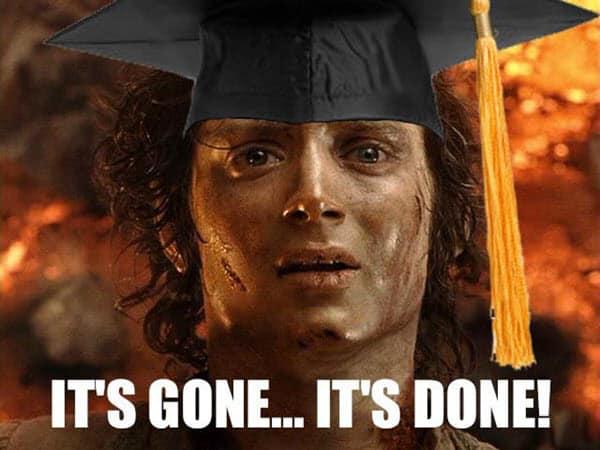 graduation its done meme