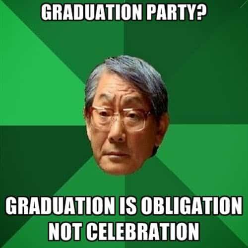 graduation party meme