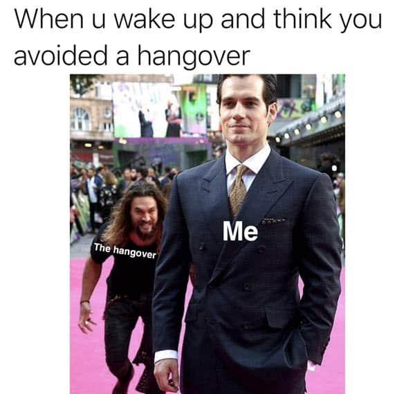 hangover avoided memes