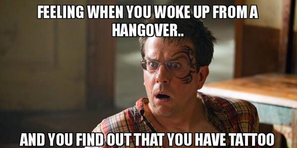 hangover tattoo memes