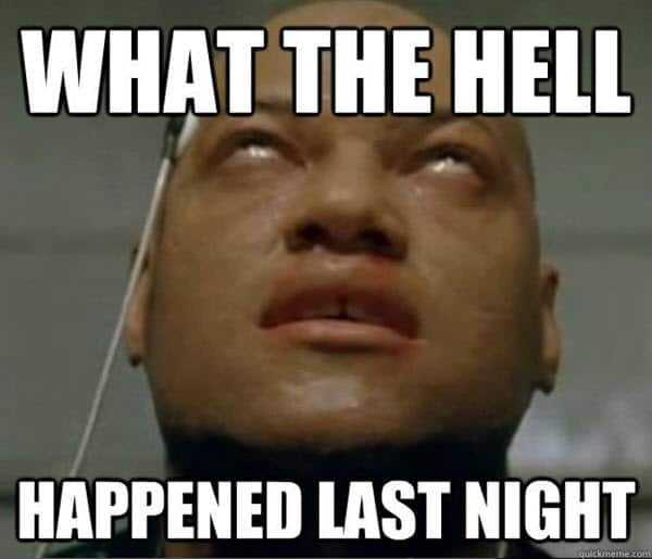 hangover what the hell happened memes