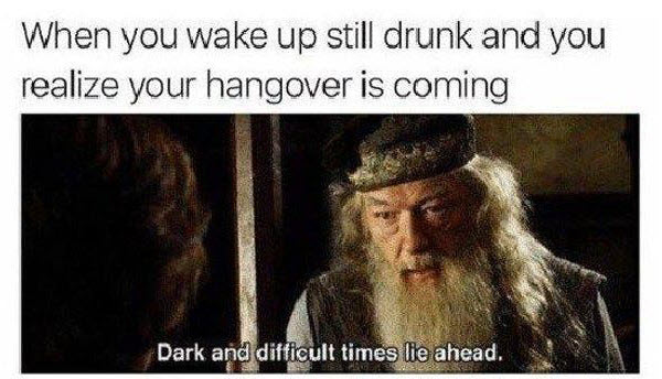 hangover when you wake up memes