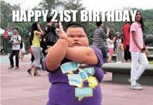 21st birthday meme