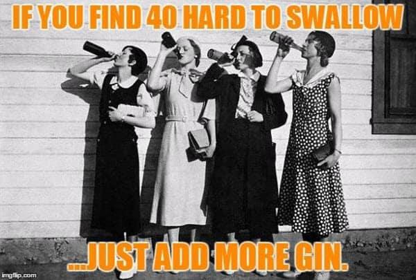 happy 40th birthday add more gin meme