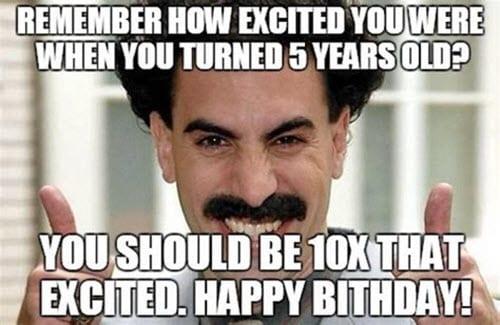 happy 50th birthday excited meme
