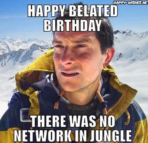 happy belated birthday jungle meme