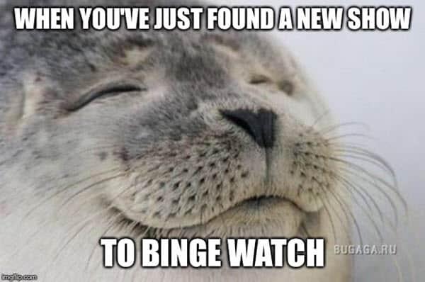 happy binge watching memes