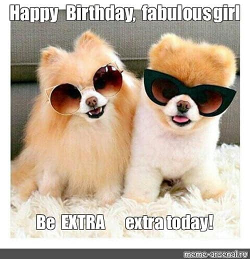 happy birthday fabulous girl meme