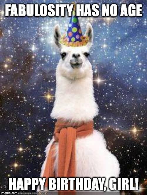 happy birthday girl fabulosity meme