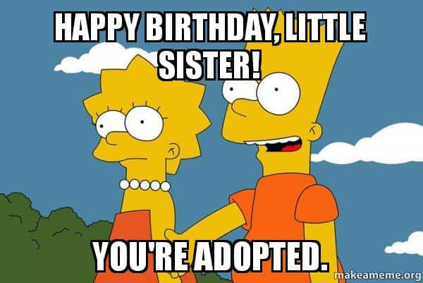 20 Hilarious Birthday Memes For Your Sister Sayingimagescom