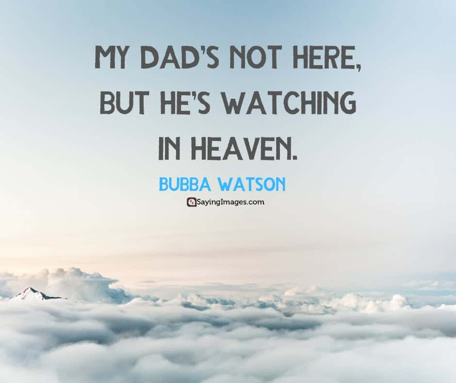 happy fathers day heaven quotes
