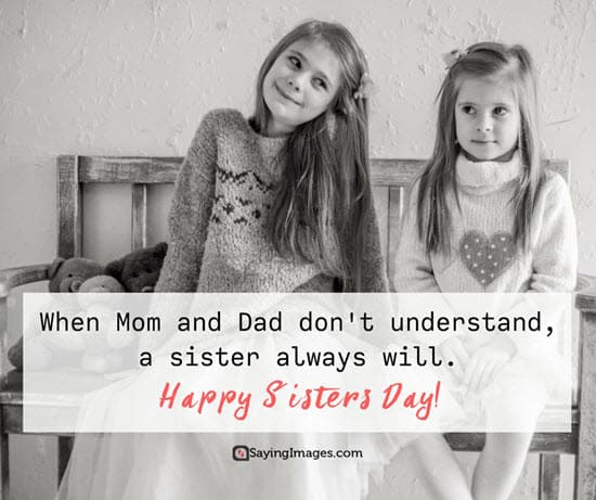 happy sisters day quote