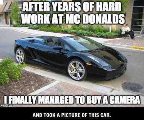 hard work buy a camera meme