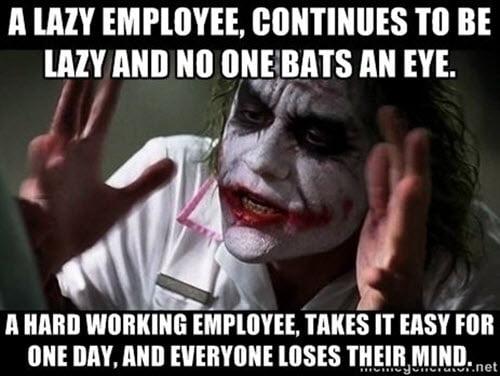 hard work employee meme