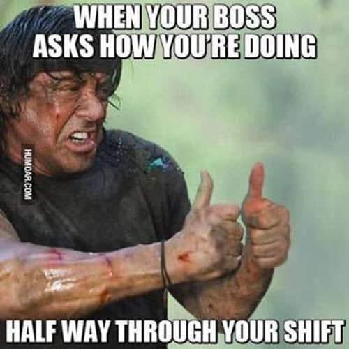 hard work when your boss asks meme