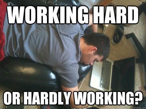 hard work working meme