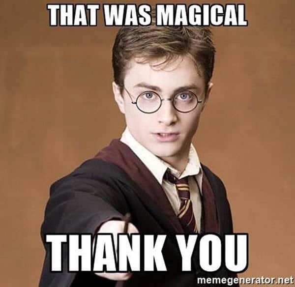 harry potter thank you memes