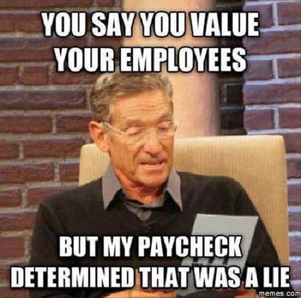 hate work paycheck meme