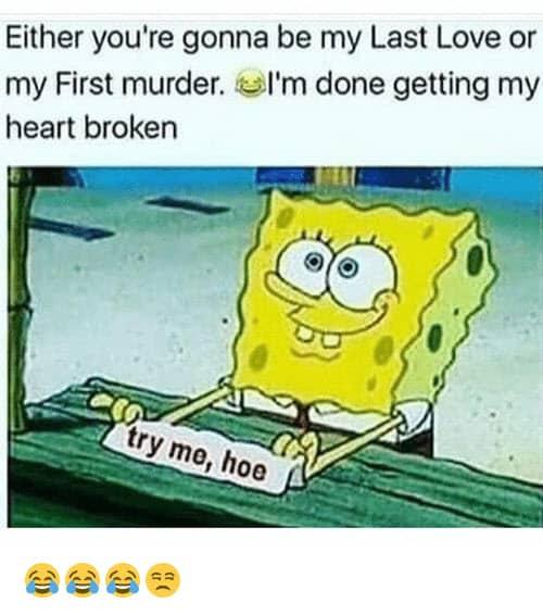 heartbroken last love or first murder meme